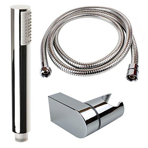 Sanixa TA3312/200/Sky handdouche set douchekop met slang 200cm & douchehouder | douchekop | doucheslang | waterbesparend | anti-kalk sproeiers