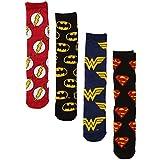 Justice League Logos Batman Superman Wonder Woman Crew Socken 4er Pack Box