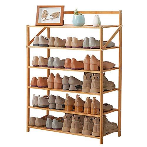 DXMRWJ Estantes para Zapatos, Estante para Zapatos de Madera, de 3 a 6 Niveles, Extensible y apilable, Montaje rápido, Estante para Acabados en el Dormitorio de Estudiantes, 6,70 cm