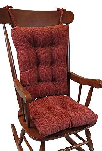The Gripper Non-Slip Polar Jumbo Rocking Chair Cushions, Garnet
