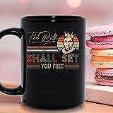 N\A Vintage The Ruth Should Set You Free Ruth beder Ruth Bader Ginsburg Notorious RBG Taza de cerámica Tazas de café gráficas Tazas Negras Tapas de té Novedad Personalizada