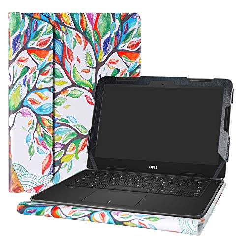 Alapmk Protective Case Cover for 13.3' Dell Latitude 13 3380 Education & Dell Chromebook 13 3380 Series Laptop(Warning:Not fit Latitude 13 3350 3340 3330/Latitude 13 2-in-1 3390 3379),Love Tree