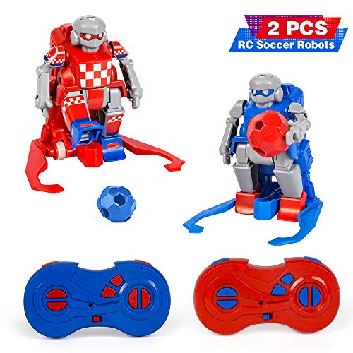 le-idea Kids Toys Gift RC Soccer Robots for Kids 2.4G rc Robot with 2 Goals Soccer Sport Ball Games for Boys and Girls Age 2, 3, 4,5,6,7-14 Years Old Indoor Outdoor