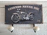 LB H&F Garderobe Wandgarderobe Hakenleiste Biker Chopper USA James