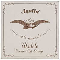Aquila純正Gut aq-1 Soprano Ukulele Strings – High G – 1セットの4