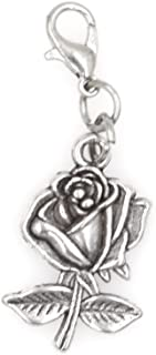 Rose Clip on Charm Perfect for Necklaces and Bracelets 101R