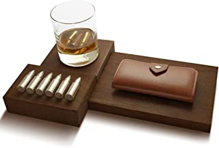Ice Cubist Whiskey Stone Bullets - Stainless Steel Reusable Ice with Luxury Leather Case, Complete Gift Set (6 Stones)