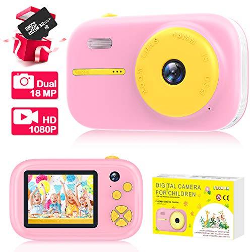 EUTOYZ Geschenk Mädchen 3-12 Jahre, Fotoapparat Kinder Spielzeug Mädchen 3 5 6 7 Jahre Geschenke für Kinder 3-12 Jahre Partygeschenk Noël Weihnachts Geschenke für Kinder ab 3-12 Jahre Rosa