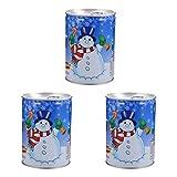 YARNOW 3 Juegos de Decoración de Nieve Falsa Polvo de Nieve Instantánea Nieve Artificial para La Decoración del Árbol de Navidad Muestra de La Aldea Artesanía de Invierno de Vacaciones
