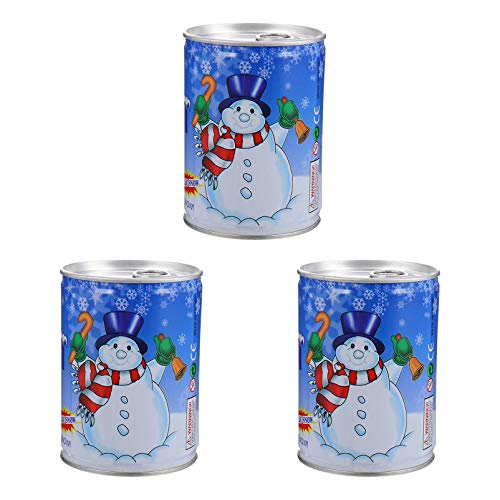 YARNOW 3pcs Artificial Snow Spray Christmas Snowflakes Can Fake White Snow Crafts Holiday Tree Decoration for Winter Party Supplies