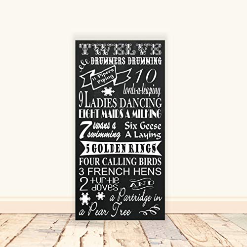 Dkisee Kerstmis Countdown Advent Kalendar Wood Sign, Christmas Countdown, Advent Kalender, Days Until Christmas, Chalkboard Countdown, Desk Wall Art Decoratie, 10 x 20 cm