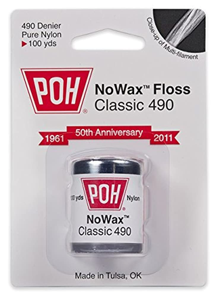 POH NoWax Classic 490 Dental Floss, 100 yds (Pack of 4)
