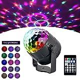 AOGUERBE Lampe de Scène 15 Color Éclairage de Discothèque, Mini Lumière Disco RGB LED Projecteur Effet Spot DJ Boule Cristal...