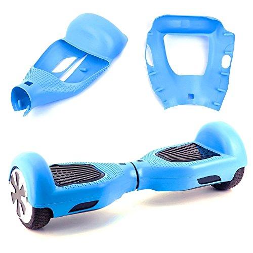 "Willdo Scooter Hülle Silikon Schutzhülle für 6,5\""2 Wheels Balance Roller - Balance Hover Board Protector Schutzhülle (Hellblau)"