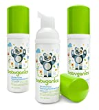 Babyganics Alcohol-Free Foaming Hand Sanitizer, Fragrance Free, On-The-Go, Pump Bottle 50 ml - 1.69 Fl Oz (Pack of 3)