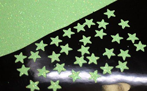 SAFIRMES 30 étoiles Vert Vif 1cm Flex thermocollant Glitter Green Neon