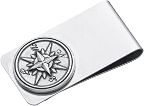 product image for DANFORTH - Compass Rose Money Clip - 2 Inches - Gift Boxed