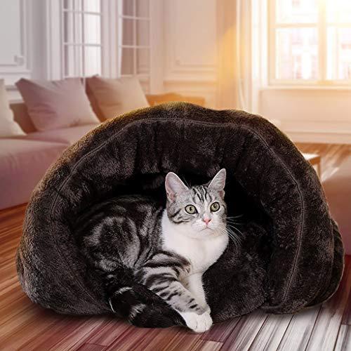 QWERTY Donut hundebett Pet Nest ,Haustierbett Pet\'s Höhle,Höhlenbett , Hundebett Hundehöhle Katzenbett Weich Warm Waschbar Für Kleine Mittelgroße Hunde Katzen, 50 * 50 * 36cm / 60 * 60 * 42cm