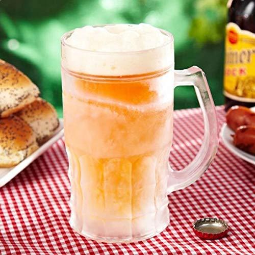 Eurrowebb Chope de bière réfrigérante à Double parois Transparent