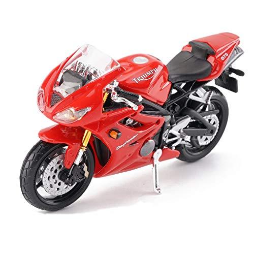 YSNUK Modelo de Motocicleta Fundido a Troquel, Motocicleta de simulación de aleación estática 1:18 Escala Daytona 675, Juguetes para niños pequeños niños - para niños de 4 años, niñas