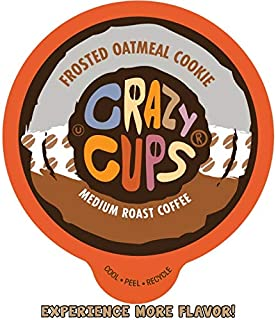 Crazy Cups Flavored Coffee for Keurig K-Cup Machines, Frosted Oatmeal Cookie, Hot or Iced Drinks, 22 Single Serve, Recycla...