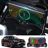Tapis Chargement sans Fil de véhicule,pour Chargeur sans Fil de Voiture BMW X1/X2 2020-2021,Carte...