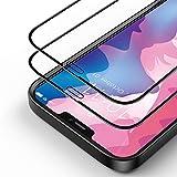 Bewahly Vetro Temperato iPhone 12 Mini [2 Pezzi], 3D Copertura Completa 9H Durezza Pellicola Protettiva in Vetro Temperato [Telaio di Installazione Incluso] per iPhone 12 Mini 5.4' - Nero