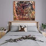 El famoso pintor maestro de Van Gogh, pintura al óleo del árbol de pino, trabaja pintando carteles e imágenes de arte mural de la decoración del hogar de la sala de estar60x60cm