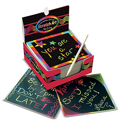 Melissa & Doug Scratch Art Box of Rainbow Mini Notes Multi, 125 Count