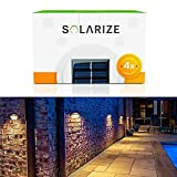 Incredalight - Solarize Waterproof Outdoor Solar Gutter Lights (4 Lights), LED...