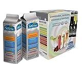Granizado - Sorbete de varios sabores a elegir (1+4)(1+2) - 6 Brik de 1 Litro concentrado - 30 o 18 Litros de producto terminado (según preparación) (Mandarina)