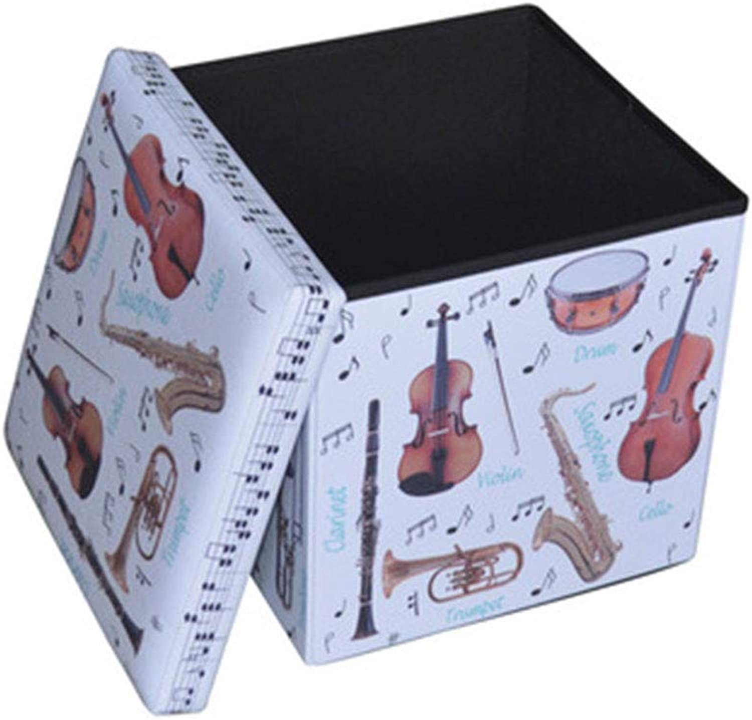 Fashion Foldable Multi-Function Storage Stool Storage Bench Change shoes Bench Square Soft Leather Pattern