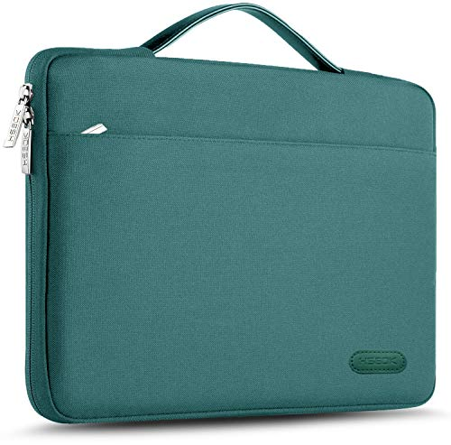 Hseok Laptop Sleeve 13-13.5 Inch Case Briefcase, Compatible All Model of 13.3 Inch MacBook Air Pro, XPS 13, Surface Book 13.5  Spill-Resistant Handbag for Most Popular 13 -13.5  Notebooks, Dark Green