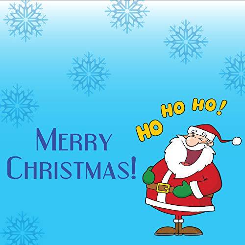 BANNER BUZZ MAKE IT VISIBLE Cartel navideño con Texto en inglés Merry Christmas, con Ojales de Metal y Bordes con Dobladillo, decoración del hogar al Aire Libre