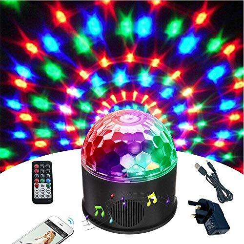 FEIGER Bluetooth Disco Ball Light Wonsung 9-Farben-Party Spiegelball Projektor Bühnenlichter Strobe Club Lichter Effekt Mini Lichter Magic Ball Dance Light