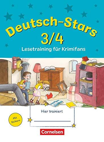 Deutsch-Stars - Allgemeine Ausgabe - 3./4. Schuljahr: Lesetraining für Krimifans - Übungsheft - Mit Lösungen