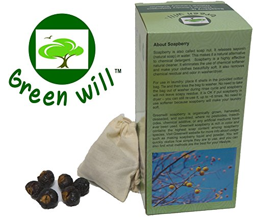 Greenwill 1.5 Pounds Organic Soapberry/Soap Nut with Wash Bag -...