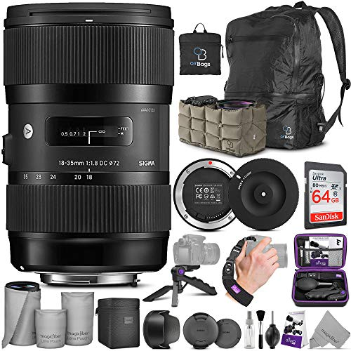 Sigma 18-35mm F1.8 Art DC HSM Lens for Canon DSLR Cameras + Sigma USB Dock with Altura Photo Advanced Accessory and Travel Bundle