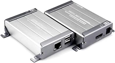 1080P HDMI Extender Ethernet Network con el Acceso USB KVM Teclado/Mouse Transmisor HDMI Sender + Receiver para Cat5 CAT6 Cat5e RJ45 LAN TV Router