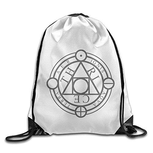 SHALLY Thrice Covers Cover Art Logo Drawstring Backpack Bag