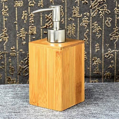 Natuurlijke Zuid-Bamboe Badkamer Vloeibare Zeep Shampoo Fles Cosmetische Container Vloeibare Zeep Machine Badkamer Douche Accessoires, A, 350-400ML