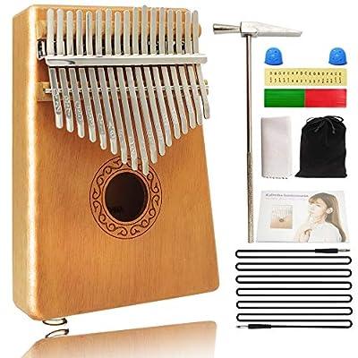 Amazon - Save 60%: Electric Kalimba Thumb Piano17 Keys,Portable Solid Wood Mbira Instrument,F…