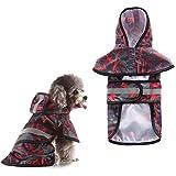 HOSui Chubasquero Perro Chubasquero Perro Mediano Abrigo para Perro Impermeable Chaqueta De Lluvia Ligera para Mascotas para Mascotas PequeñAs Y Medianas Black&Red,4XL
