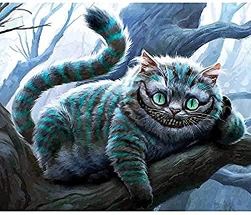 NC88 Bosque Gato Animal DIY Pintura Digital por números Arte de Pared Moderno Lienzo Pintura decoración del hogar DIY Pintura al óleo Digital