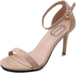 e24fa4a578 Sandalias de Verano, Dragon868 Moda Mujeres Sandalias Tobillo Tacones Altos  Bloque Abierto Toe Zapatos de