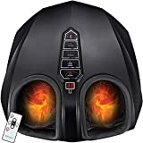 Deep Tissue Foot Massager Machine - Shiatsu Massage with Optional Heat, Compression and Multi-Level Settings for Plantar Fasciitis, Neuropathy, Diabetics and Tired Feet - Fit Up to Size 13