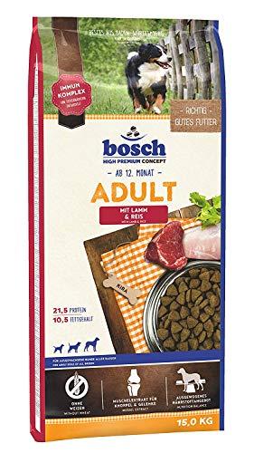 bosch HPC Adult con cordero y arroz | Alimento seco para perros adultos de todas las razas | 1 x 15 kg