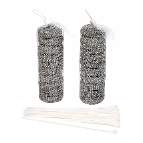 20 Stücke Waschmaschine Lint Traps Flusenfilter Abfluss Siebe Flusen Fänger mit 20 Stücke Kabelbinder