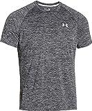 Under Armour Herren UA Tech Ss Fitness T-Shirt, Schwarz (Schwarz Heather), L -