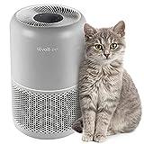 Purificador de aire LEVOIT para el cabello de mascotas y alergias en el hogar, filtro HEPA verdadero H13 con fórmula ARC para dormitorio, núcleo P350, gris